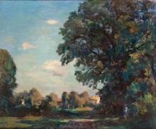 """Emile Bressler (1886-1966), """"Paysage avec arbre"""""""