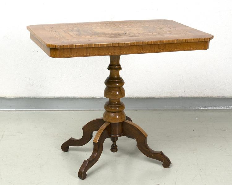 table gu ridon rectangulaire coins coup s et marquet e d 39 u. Black Bedroom Furniture Sets. Home Design Ideas