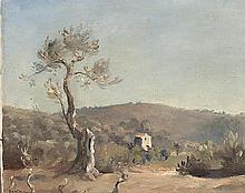 """huile sur toile de Emile BRESSLER (1886-1966, CH) """"Le vieil Olivier"""" sbg titrée et datée au dos 1931."""