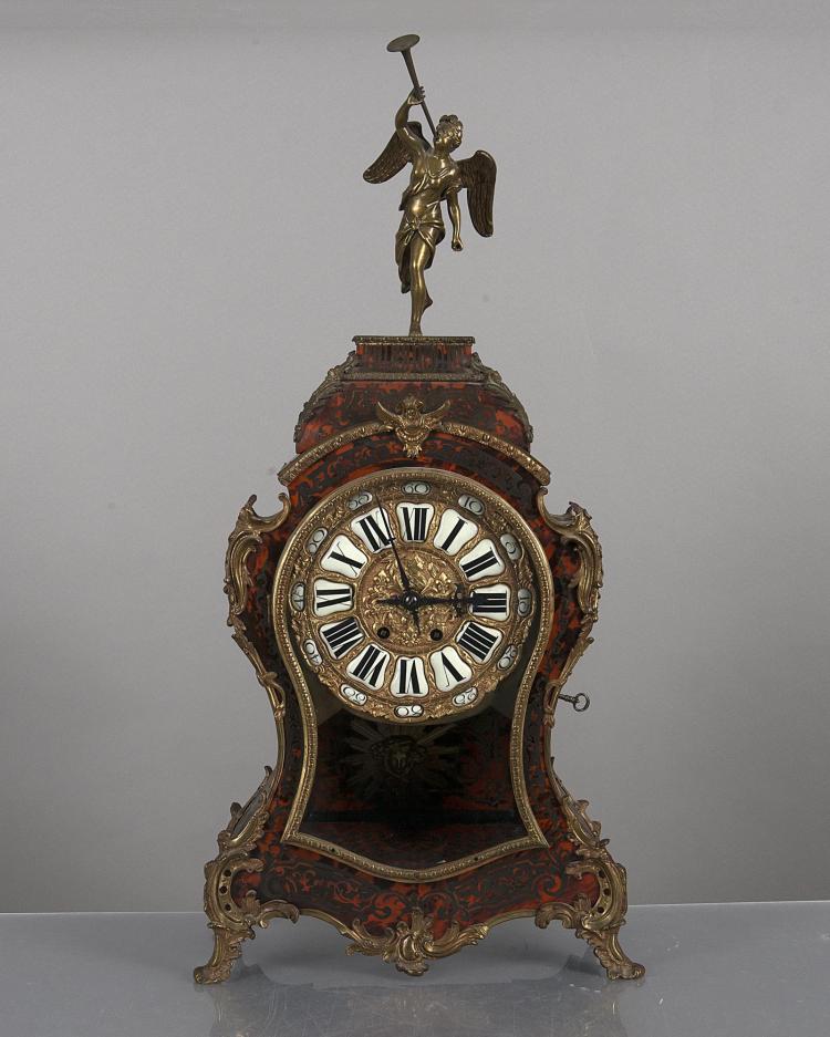 Horloge De Style Boulle Et D 39 Poque Nap Iii Marqueterie D