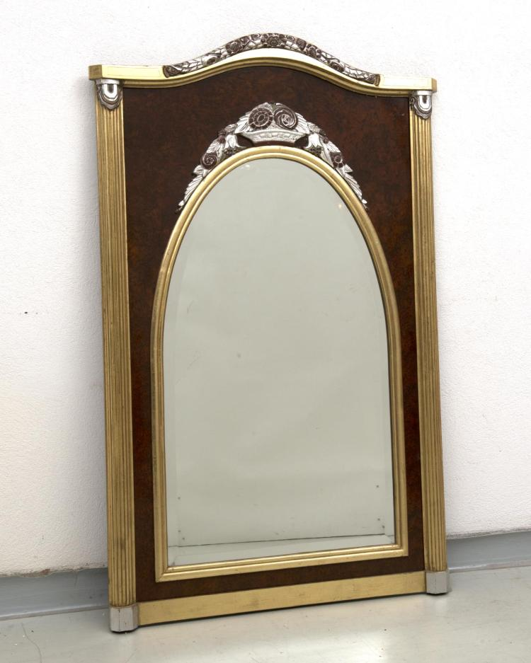 miroir art d co biseaut de forme rectangle avec arrondi sur