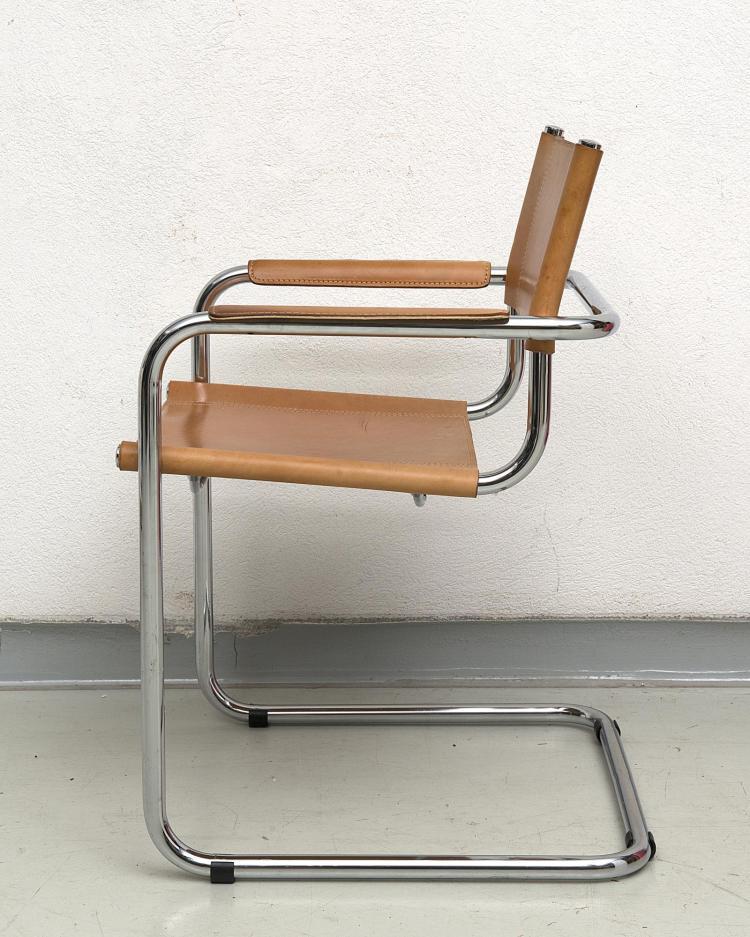 paire de fauteuils marcel breuer 1902 1981 mod le b34 d. Black Bedroom Furniture Sets. Home Design Ideas
