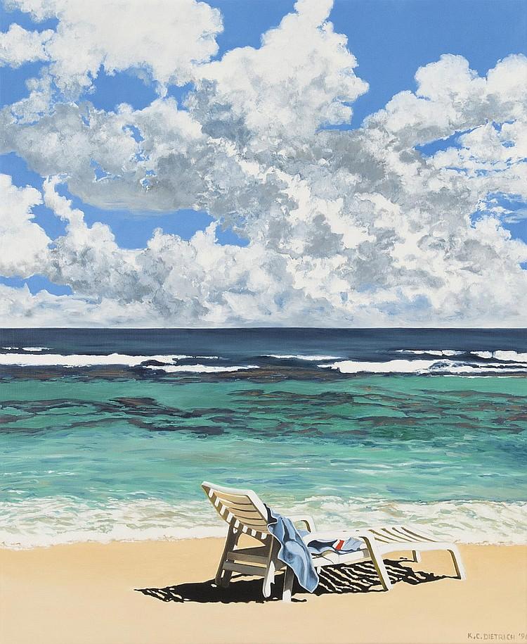acrylique sur toile de k c dietrich xx xxie 39 chaise long. Black Bedroom Furniture Sets. Home Design Ideas