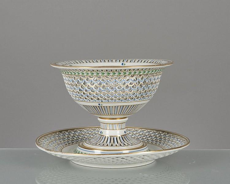 Centre de table ajour en porcelaine de vienne avec son pr s - Porcelaine de table ...