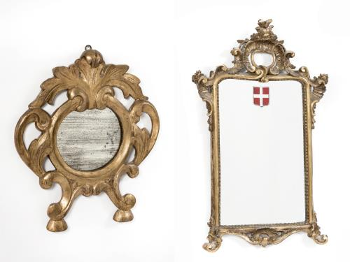 Miroir de style louis xv et petit miroir circulaire for Glace miroir moderne