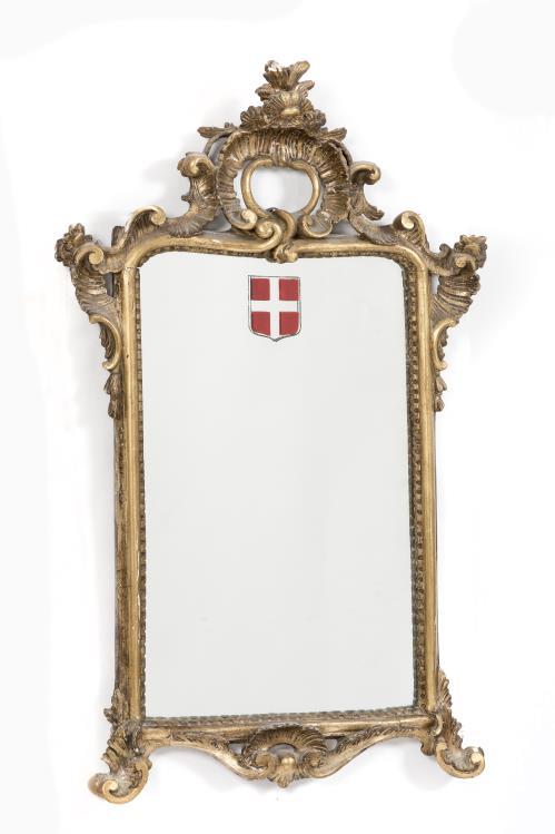 Miroir de style louis xv et petit miroir circulaire for Miroir circulaire