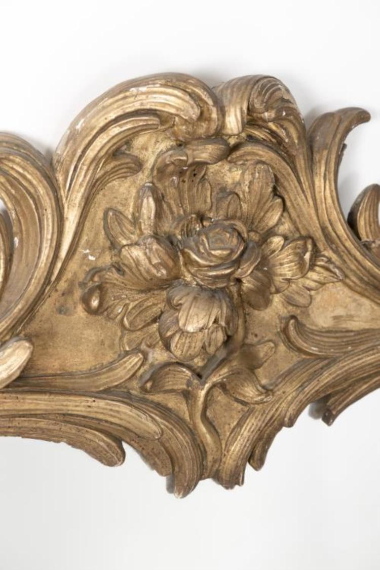 Miroir de style rococo en bois dor - Miroir ancien bois dore ...