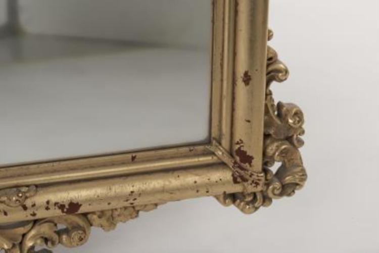 Miroir rectangulaire italien de style baroque - Miroir baroque noir rectangulaire ...