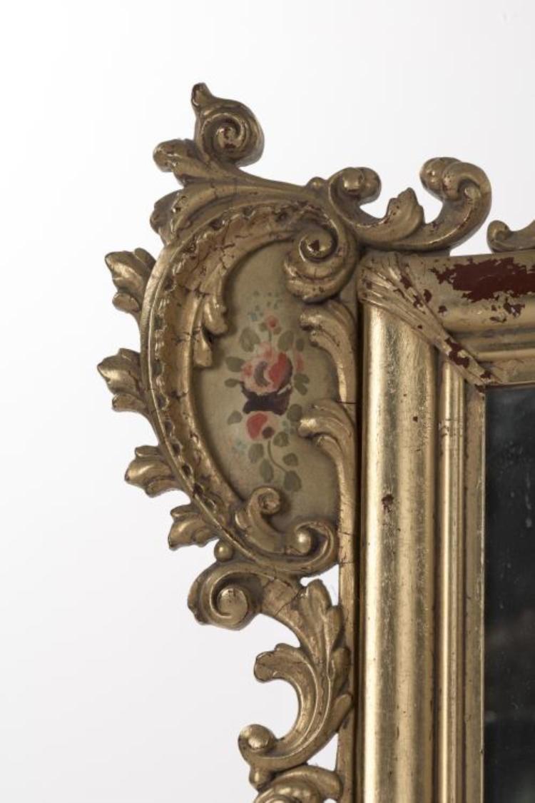 Miroir rectangulaire italien de style baroque for Miroir baroque noir rectangulaire