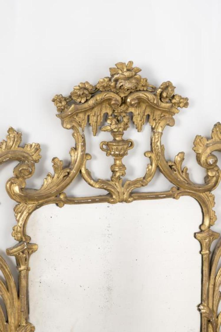 Miroir anglais probalement xviiie en bois dor sculpt fron - Miroir ancien bois dore ...