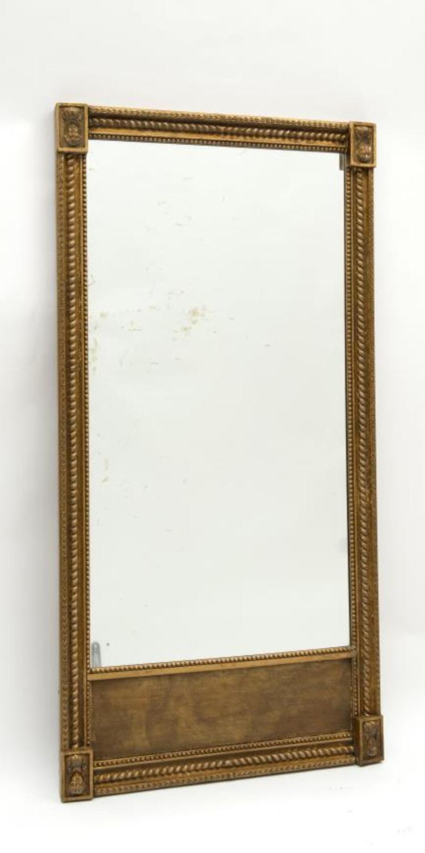 Miroir trumeau rectangulaire de style empire quatre mascar for Miroir rectangulaire ikea