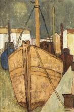 "Charles Monnier (1925-1993, CH), ""Chalutier jaune""."