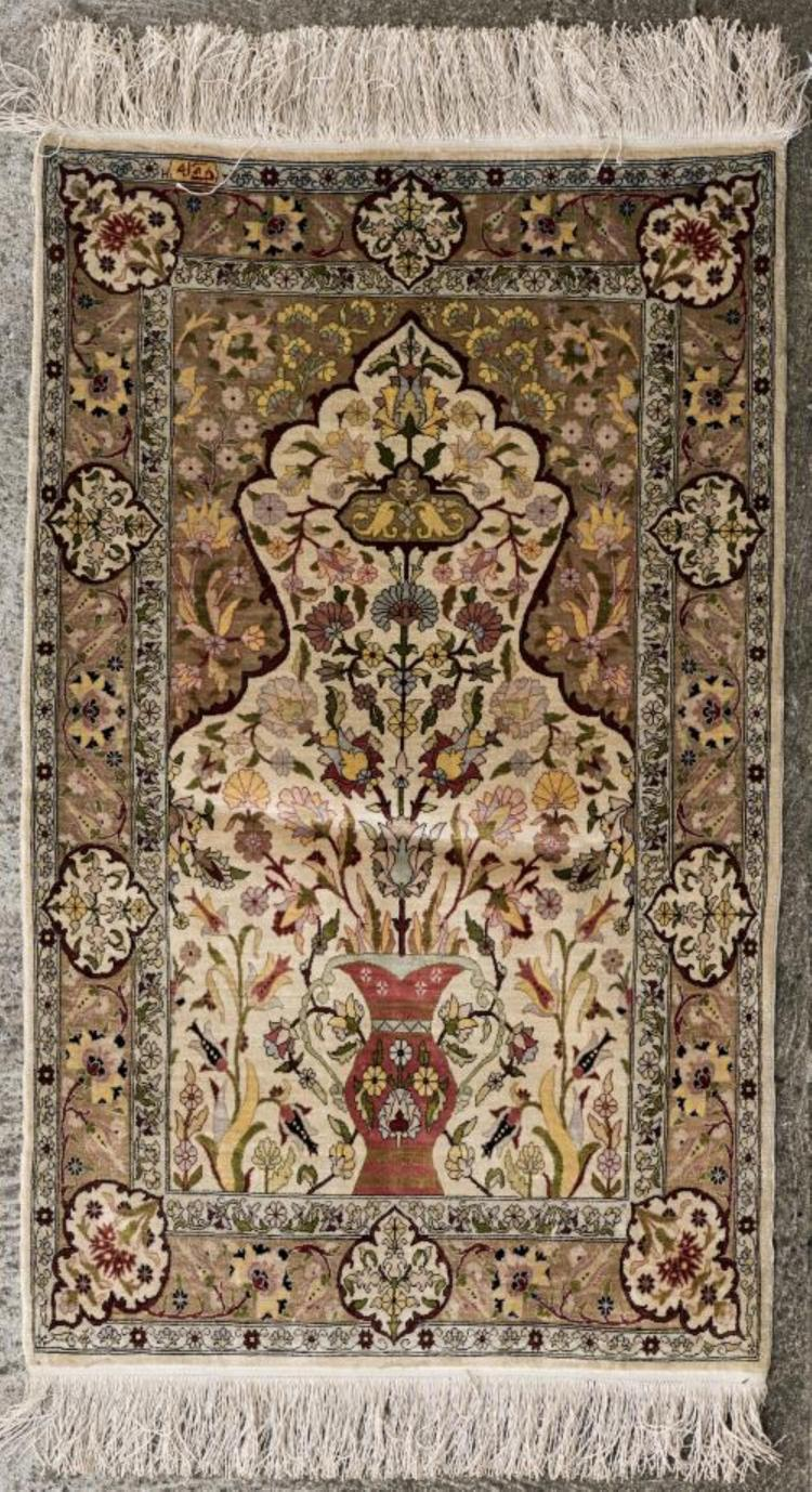 tapis de pri 232 re hereke en soie