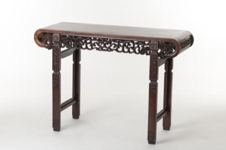 Table dautel rectangulaire de Chine en bois de rose (Huangh