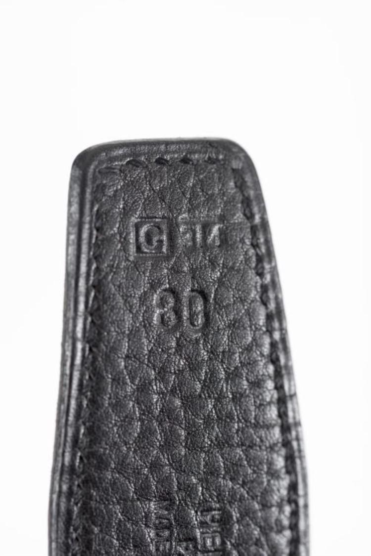 herm 232 s ceinture pour femme en cuir noir avec boucle h