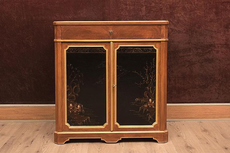 Petit meuble secr taire de style louis xvi du xixe en imitat for Petit meuble secretaire
