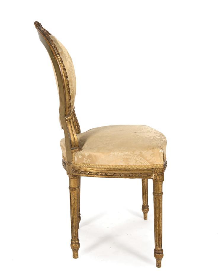 petit salon de style louis xvi poque nap iii recouvert de. Black Bedroom Furniture Sets. Home Design Ideas