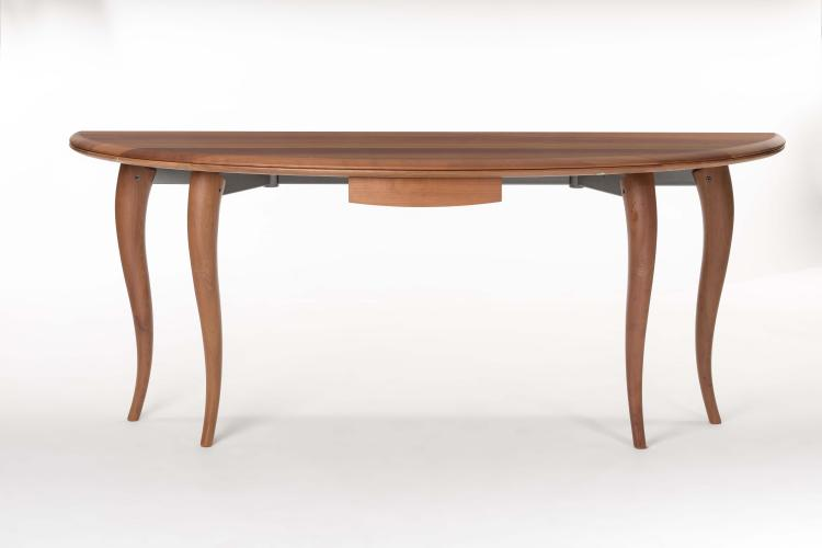 Table ovale bois massif rallonge for Salle a manger collie