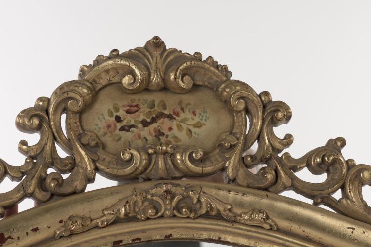 Miroir rectangulaire italien de style baroque for Miroir noir baroque