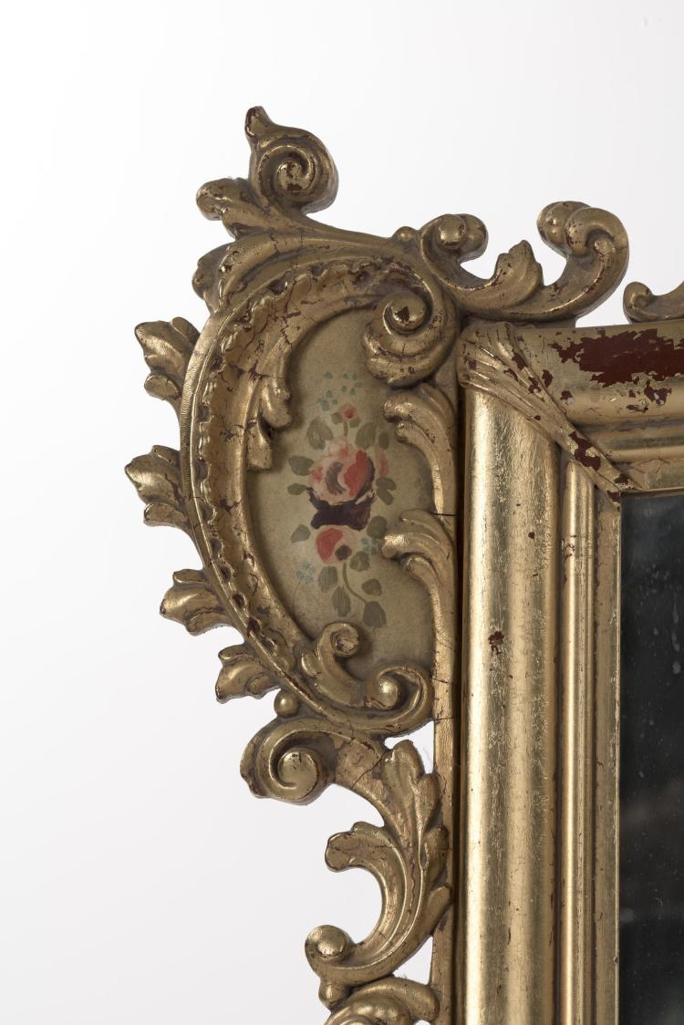 Miroir rectangulaire italien de style baroque for Miroir rectangulaire baroque