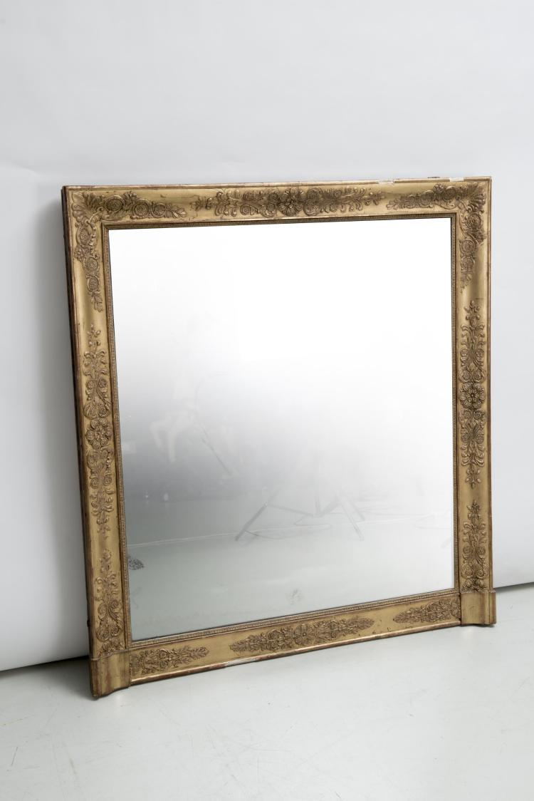 Grand miroir rectangulaire d 39 poque empire - Grand miroir mural rectangulaire ...