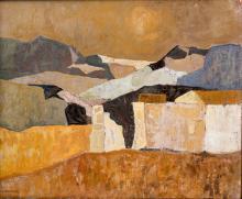 """Charles Monnier (1925-1993, CH), """"Nuit de printemps""""."""