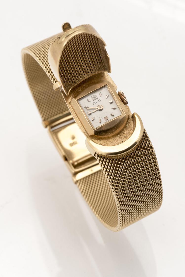 piaget montre bijou en or jaune 750 bracelet milanais. Black Bedroom Furniture Sets. Home Design Ideas