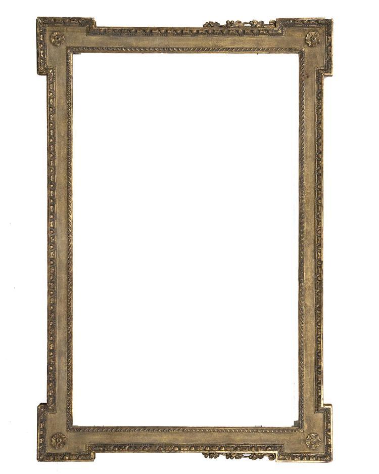grand cadre en bois sculpt dor de style r gence. Black Bedroom Furniture Sets. Home Design Ideas