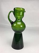 Petite verseuse verre couleur verte H.20cm