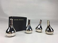 4 bougeoirs Design  DANSK DESIGN DENMARK H. 6 cm