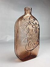 Grand soliflore verre couleur orangé - Suède H.27cm
