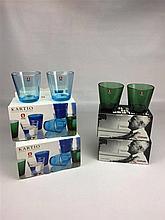 Lot de 12 verres KARTIO IITTALA (vert x 8 et bleu x4 )