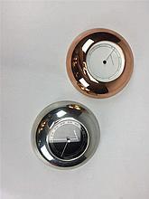 Baromètre et Thermomètre GEORG JENSEN design Andréas Mikkelsen D. 14cm