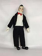 Figurine Stan LAUREL  tête/mains/pieds en porcelaine - Année 50 - H 40 cm