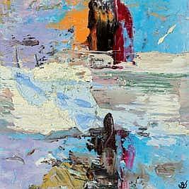 John Kingerlee b.1936 SUNNY DAY Oil on Card