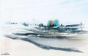 JJ Macken BEYOND THE RAINBOW Watercolour 18.75