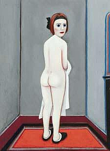 Jack Donovan b.1935 NUDE STANDING Oil on Board