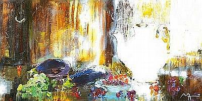 Alina Maksimenko b.1974 HARVEST TEA Oil on Canvas