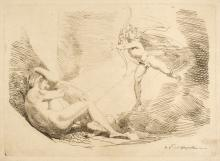 * Fuseli (Henry, 1741-1825). Chrysogone conceives, in a ray of sunshine