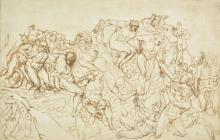 * Fuseli (Henry). Study after Michelangelo's Last Judgement