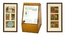 * Haberdashery. A 1930s Abel Morrall's Flora Macdonald Needles haberdashery box,
