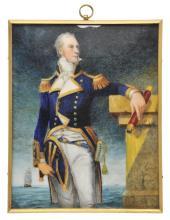 * Bartlett (Michael, 1922-2008). Portrait of a Naval Captain,