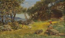 * Hughes (Arthur, 1832-1915). Summer Landscape,