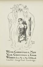 * Brock (Charles Edmund, 1870-1938). Illustrations for Christmas cards, circa 1904-1912,