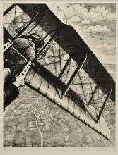 *@ Nevinson (Christopher Richard Wynne, 1889-1946). Banking at 4000 feet, 1917,