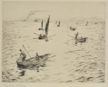 * Wyllie (William Lionel, 1851-1931 ). Portsmouth Fishing Boats,
