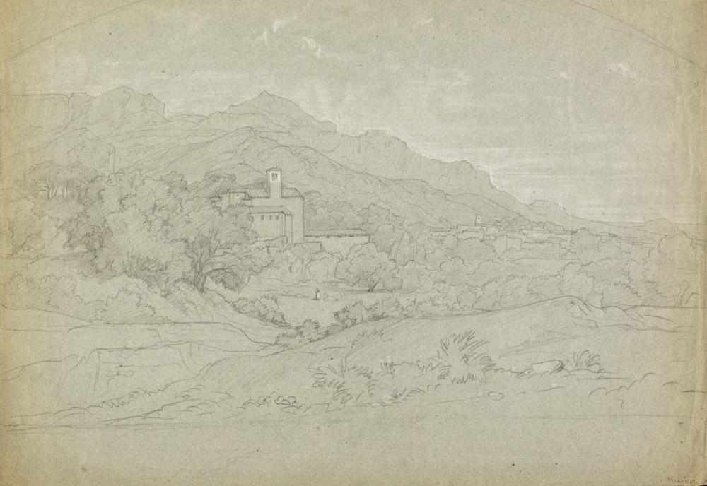 * Bertin (Francois-Edouard, 1797-1871). View on the outskirts of Marseille