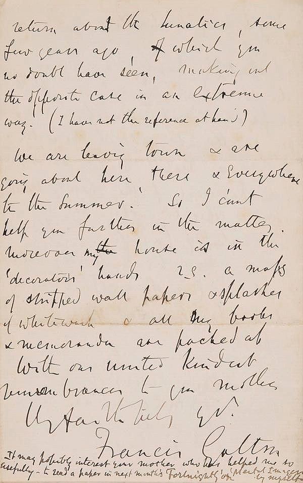 Galton (Francis, 1822-1911). A group of five