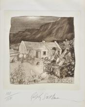 * Steadman (Ralph, 1936-). Two men sitting on a chicken coop,