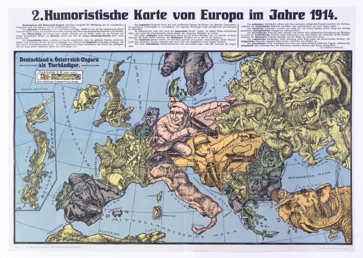 Karte Von Europa 1914.Europe Lehmann Dumont Karl Humoristische Karte Von